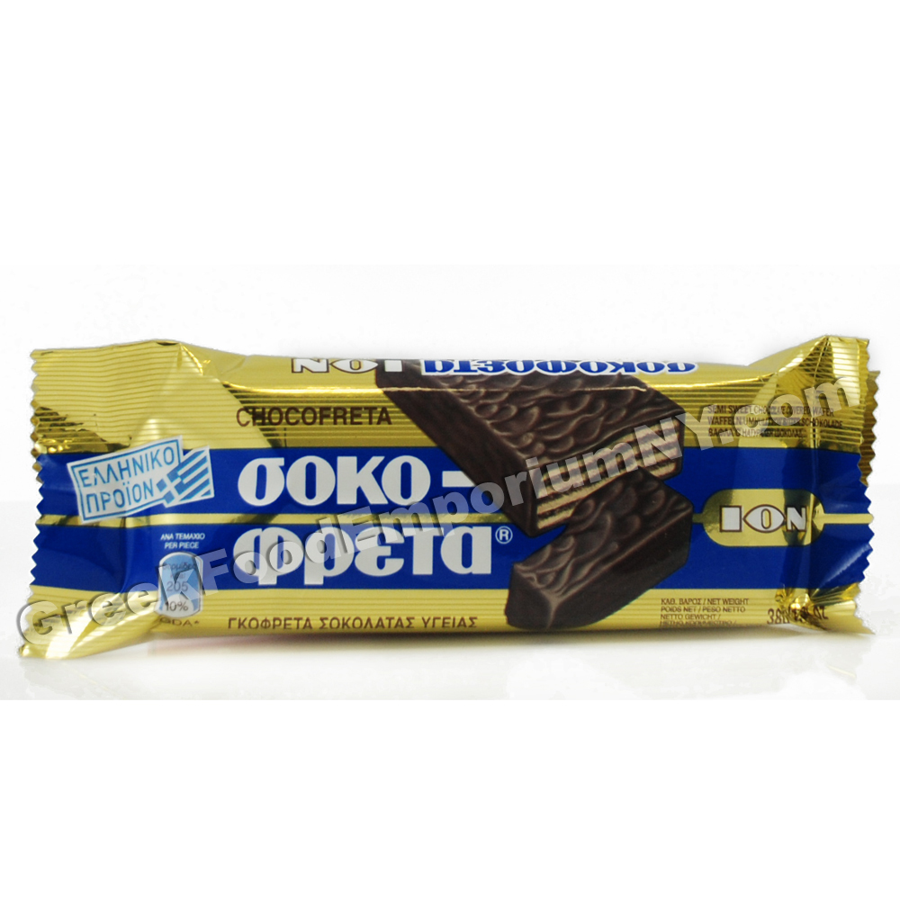 Ion Chocofreta (Sokofreta) Dark Chocolate Wafer | Greek Grocery